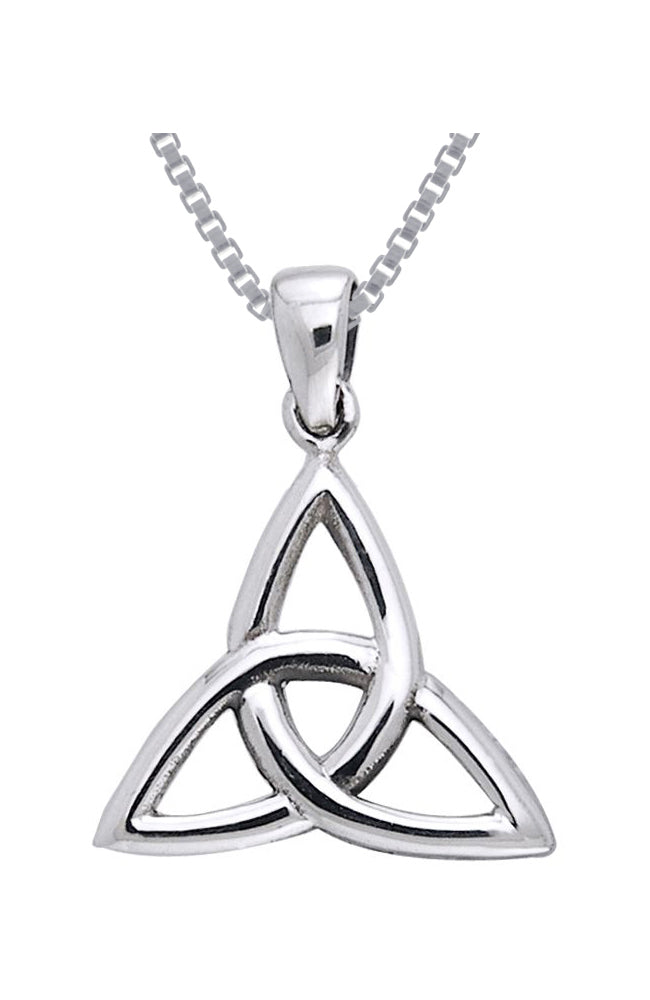 Jewelry Trends Sterling Silver Celtic Triquetra Trinity Knot Pendant on 18 Inch Box Chain Necklace