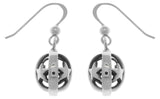 Jewelry Trends Sterling Silver Moon and Star Puff Ball Dangle Earrings