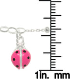 Jewelry Trends Sterling Silver Pink Enamel Dragonfly Adjustable 9 Inch Anklet