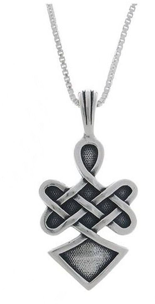 Jewelry Trends Sterling Silver Celtic Warrior Spirit Pendant with 18 Inch Box Chain Necklace