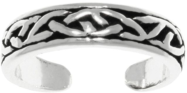 Jewelry Trends Sterling Silver Celtic knot Design Adjustable Toe Ring Also Pinky Ring