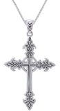 Jewelry Trends Sterling Silver Gothic Celtic Cross Pendant on 18 Inch Box Chain Necklace