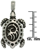 Jewelry Trends Pewter Tribal Turtle Unisex Pendant