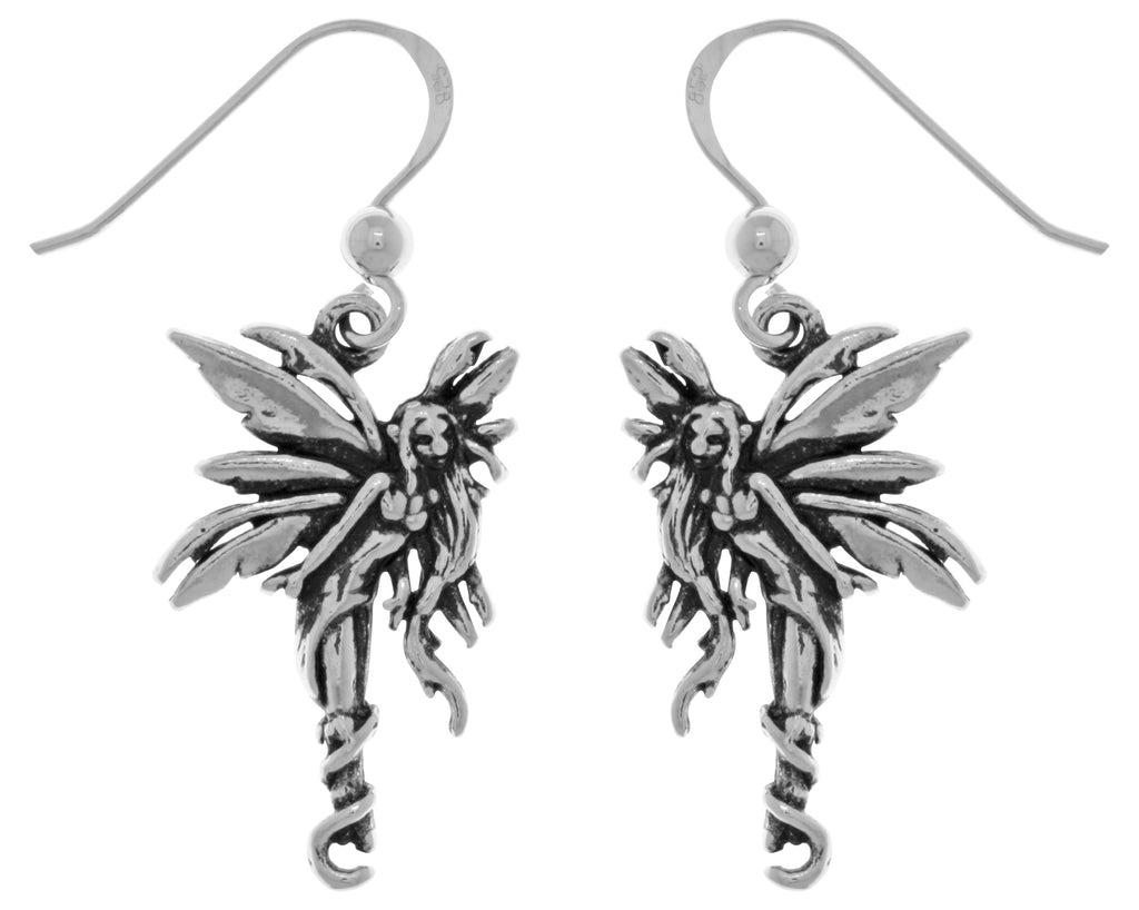 Jewelry Trends Sterling Silver Firefly Fairy Dangle Earrings Artist Amy Brown