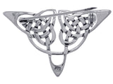 Jewelry Trends Sterling Silver Celtic Triangle Knot Brooch Pin