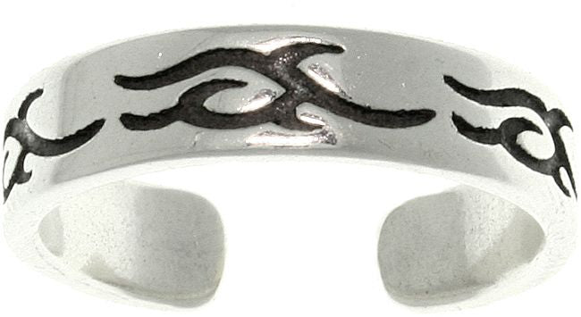 Jewelry Trends Sterling Silver Tribal Celtic Design Adjustable Toe Ring