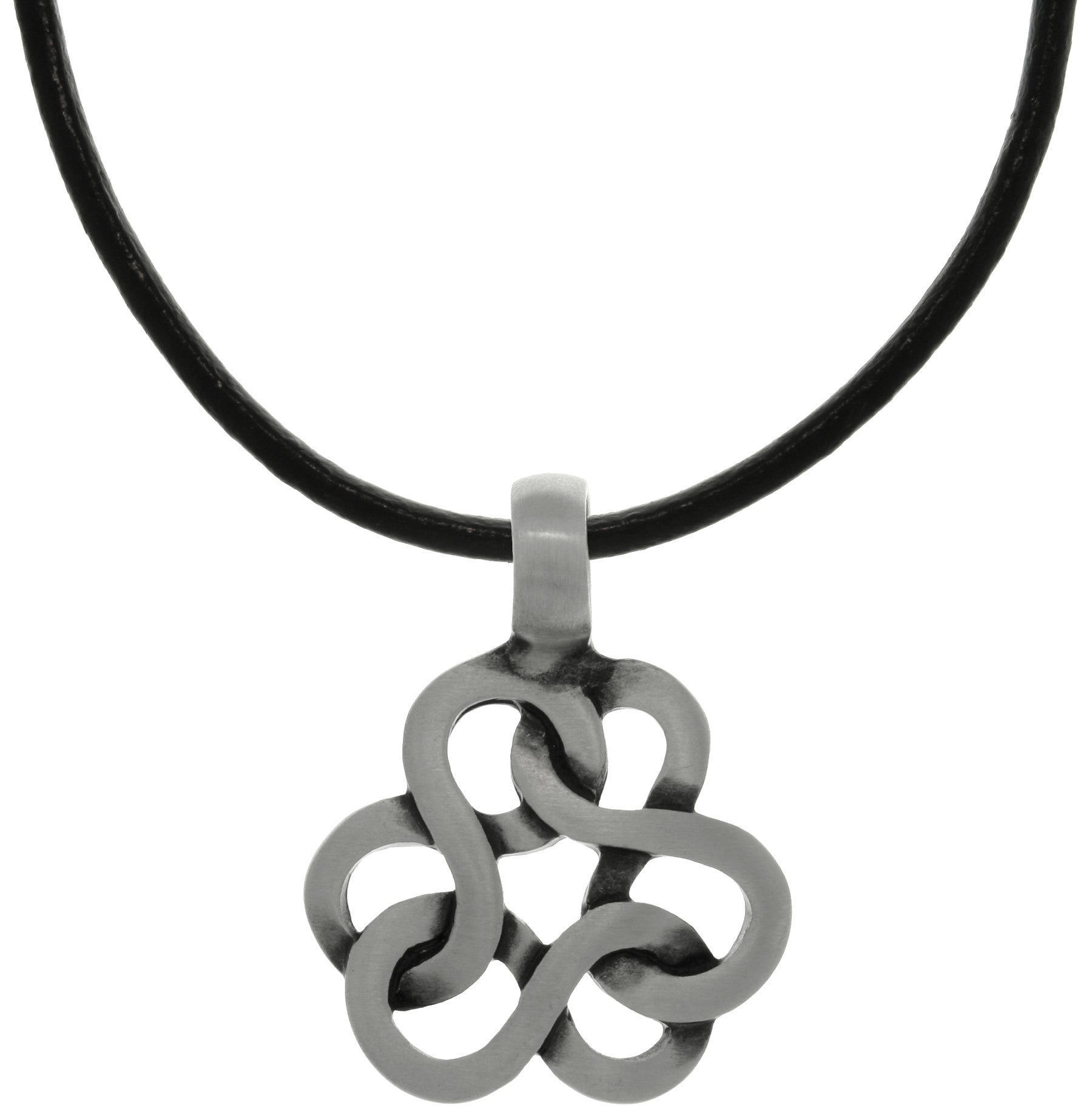 Jewelry trends pewter celtic infinity knot trinity pendant on black jewelry trends pewter celtic infinity knot trinity pendant on black leather necklace aloadofball Gallery