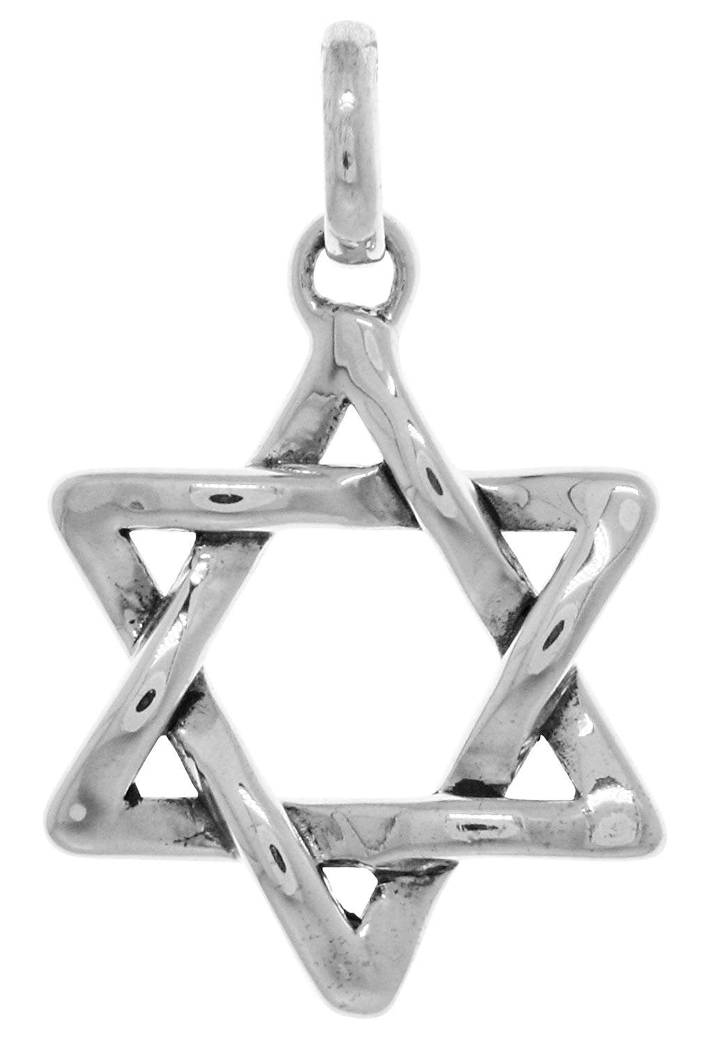 Jewelry Trends Star of David Weaved Sterling Silver Pendant