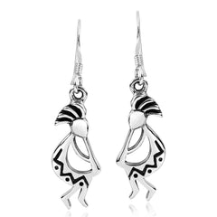 Jewelry Trends Sterling Silver Kokopelli Dangle Earrings South Western Design