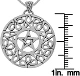 Jewelry Trends Celtic Star Pentacle Pentagram Sterling Silver Pendant Necklace 18""
