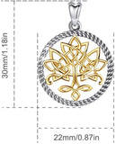 Jewelry Trends Tree Of Life Celtic Knot Irish Sterling Silver Pendant Necklace 18""