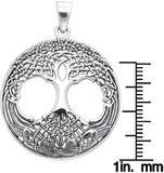 Jewelry Trends Sterling Silver Celtic Tree of Life Pendant