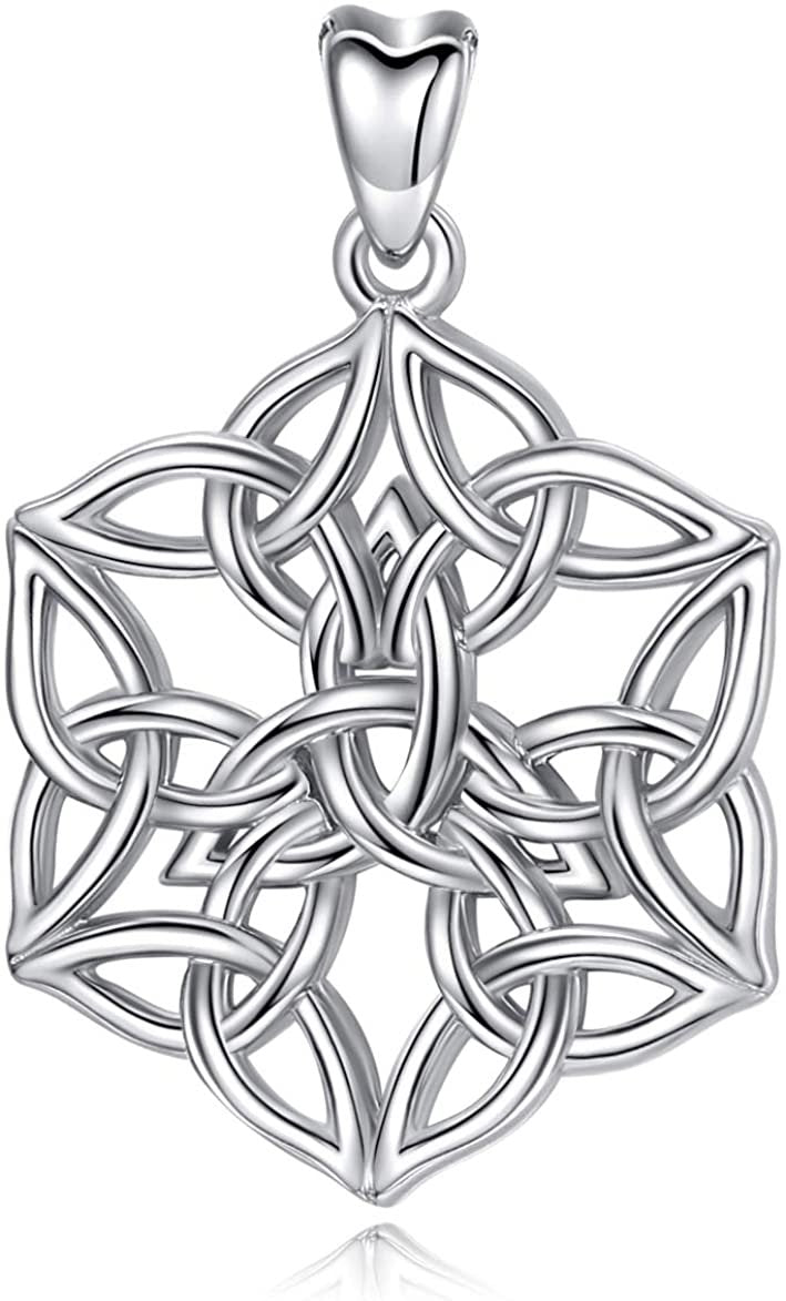 Jewelry Trends Celtic Trinity Knot Protection Sterling Silver Pendant Necklace 18""