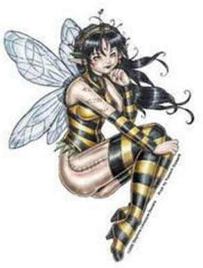Del's Honey Fairy Decorative Sticker Decal By Delphine Levesque Demers