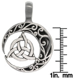 Jewelry Trends Trinity Crescent Celtic Knot Pewter Pendant