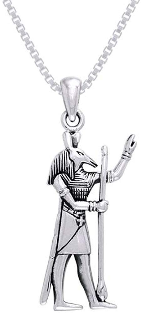 Jewelry Trends Egyptian God Set Sterling Silver Pendant Necklace 18""