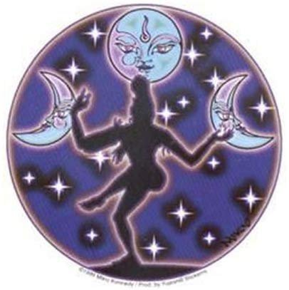 Moon Dance Decorative Sticker Decal By Mikio Kennedy