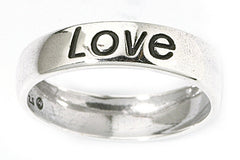 Jewelry Trends Sterling Silver Love Ring Whole Sizes 5 - 10 Word Message Jewelry