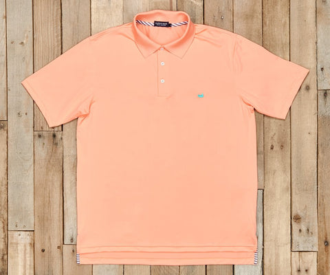 Bermuda Performance Polo Peach
