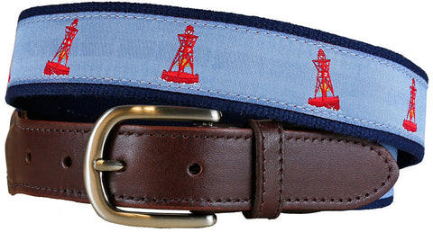 Bell Buoy Leather Tab Belt