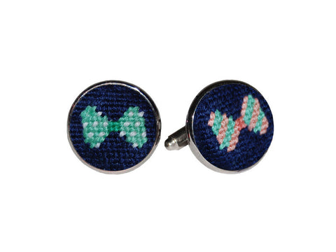 Bow Ties Needlepoint Cufflinks