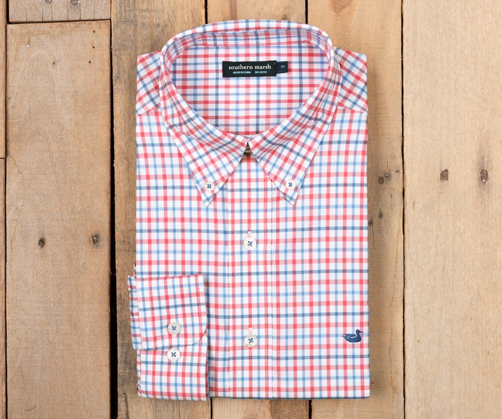 Chambers Performance Gingham Strawberry