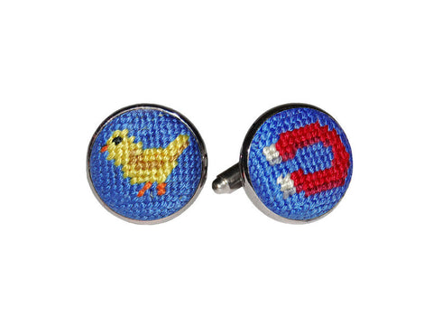 Chick Magnet Needlepoint Cufflinks