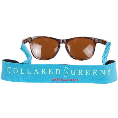 Collared Greens Aqua Croakies
