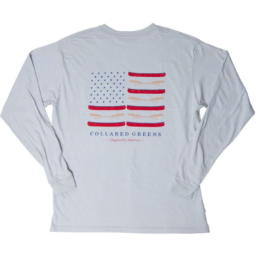 Canoe Flag Long Sleeve T-Shirt Ash Gray
