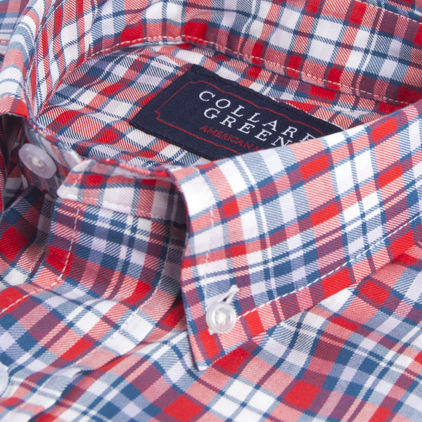 The Poe Button Down Red, White & Blue