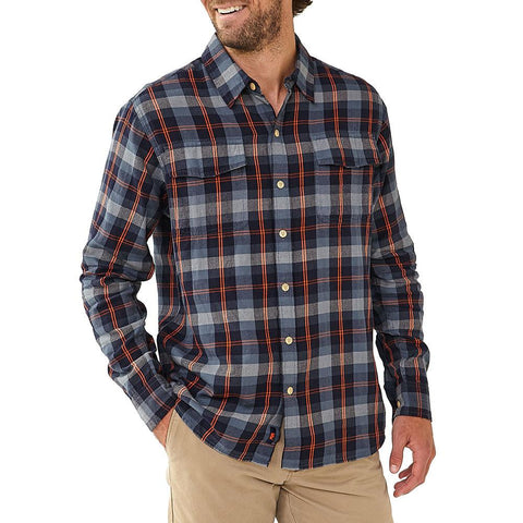 Conrad Plaid - Navy/Orange