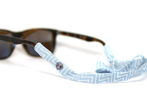 Blue Chevron Croakies