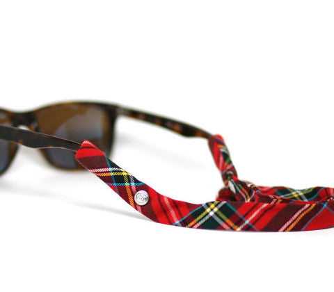 Green & Red Plaid Croakies