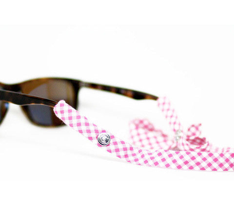 Pink Gingham Croakies
