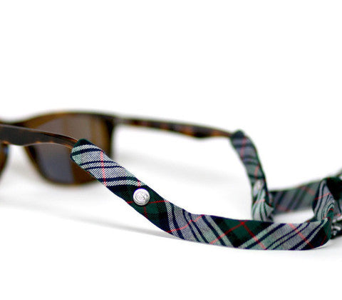 Plaid Green & Black Croakies