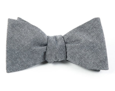 Classic Chambray Soft Gray Bow Tie