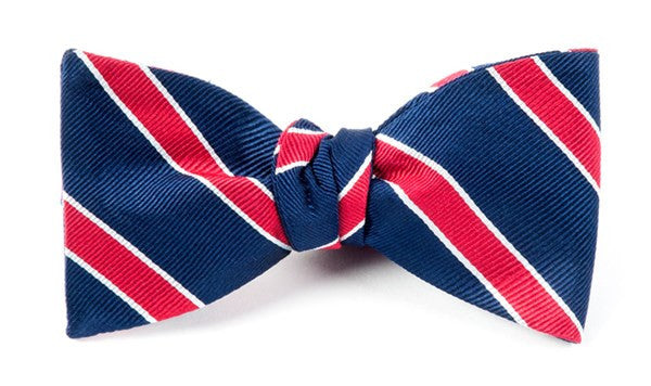 Honor Stripe Classic Navy Bow Tie