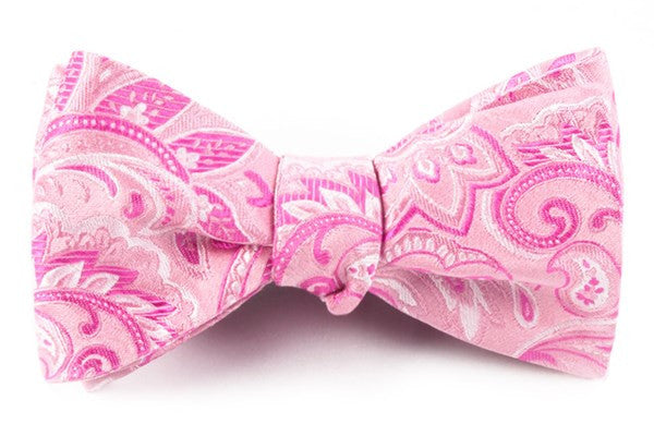 Organic Paisley Baby Pink Bow Tie
