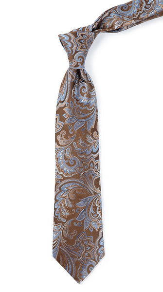 Organic Paisley Brown