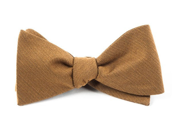Solid Wool Bronze Bow Tie