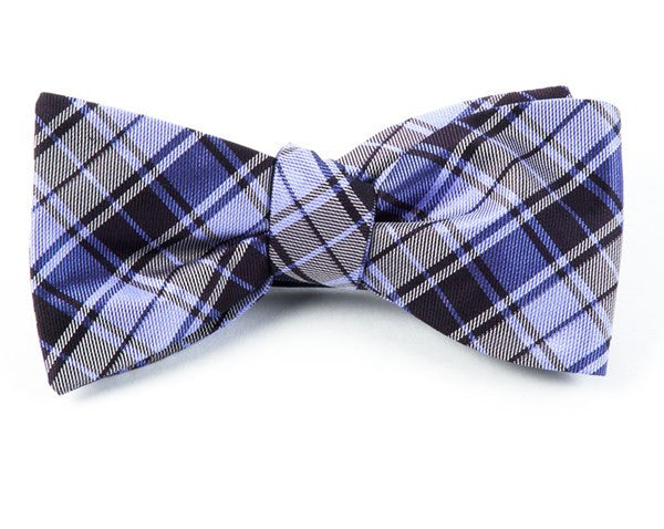 Summer Plaid Eggplant Bow Tie