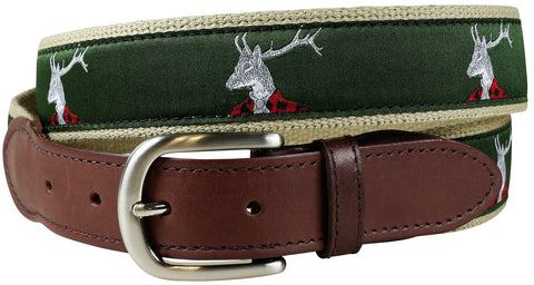 Dapper Stag Leather Tab Belt