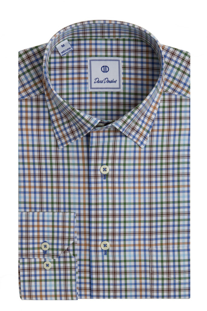 Chevron Weave Check Sport Shirt
