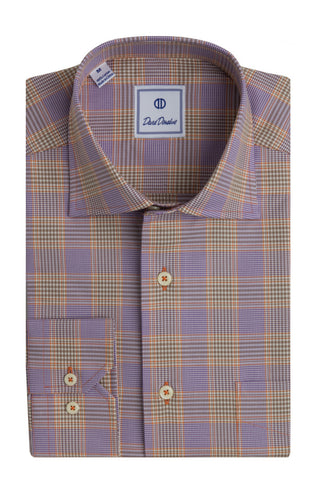 Colorful Glen Plaid Lilac & Melon Sport Shirt