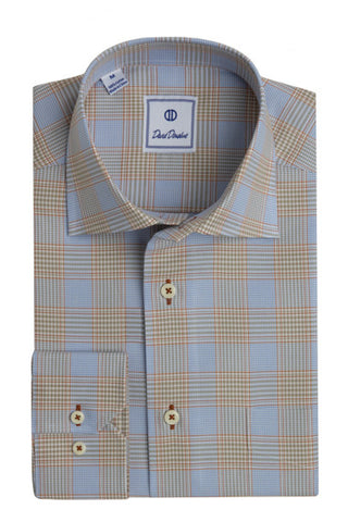 Colorful Glen Plaid Sport Shirt