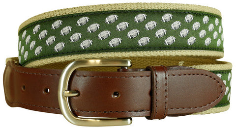 Football Leather Tab Belt