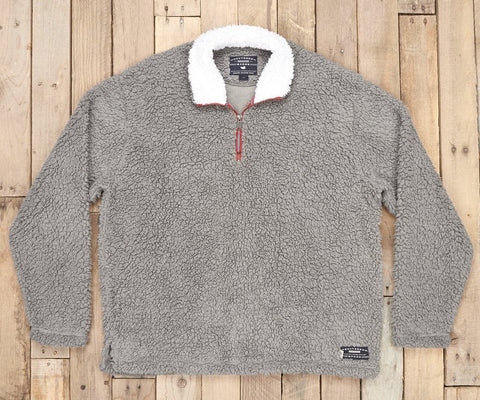 Appalachian Pile Sherpa Pullover Light Grey