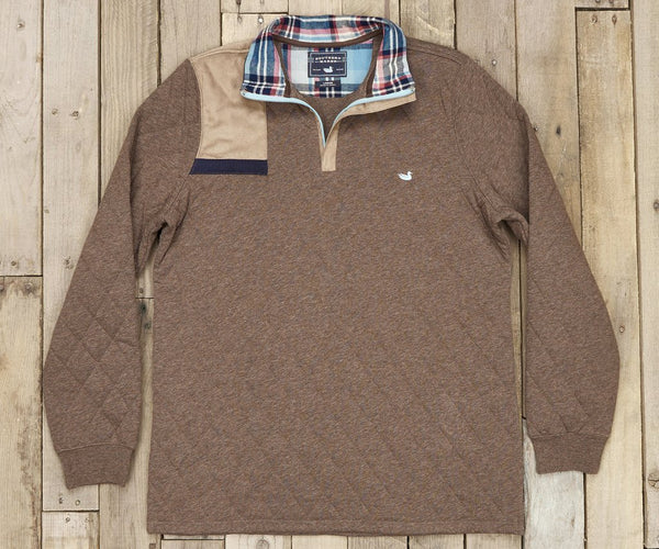 Carlyle Sporting Pullover - Heather Dark Brown