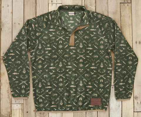 Woodlands Fleece Pullover Dark Olive