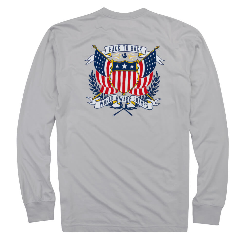 Back to Back Crest Long Sleeve Pocket Tee